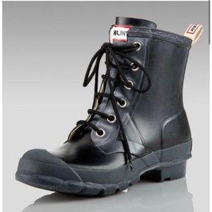 Hunter Brixton Rubber Combat Boots